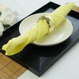 17inch Yellow Polyester Linen Napkins