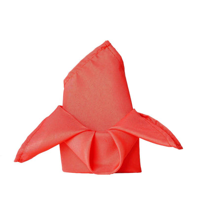 "20x20"" CORAL Wholesale Polyester Linen Napkins For Wedding Birthday Party Tableware - 5 PCS"