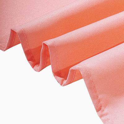 5 Pack | 20 Inch x 20 Inch | Coral Polyester Linen Napkins | TableclothsFactory
