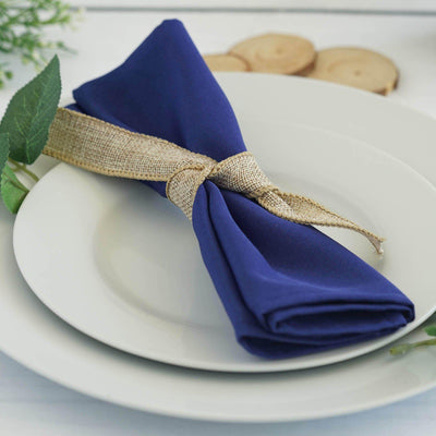 "20x20"" ROYAL BLUE Wholesale Polyester Linen Napkins For Wedding Birthday Party Tableware - 5 PCS"