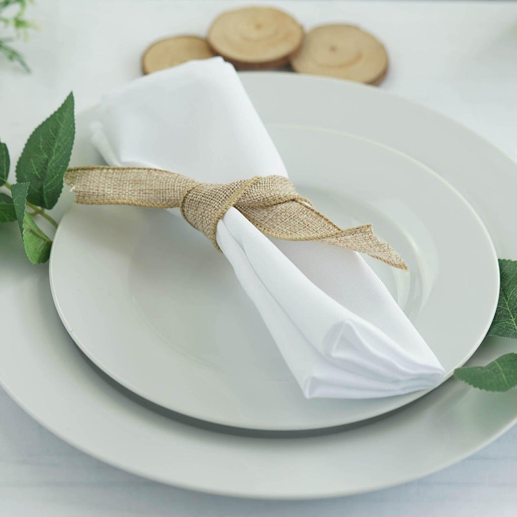 Magnificent 5 Pack 20X20 White Polyester Linen Napkins Interior Design Ideas Oxytryabchikinfo
