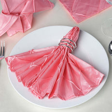 5 Pack 17''x17'' Rose Quartz Pintuck Napkins