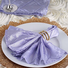 5 Pack 17''x17'' Lavender Pintuck Napkins