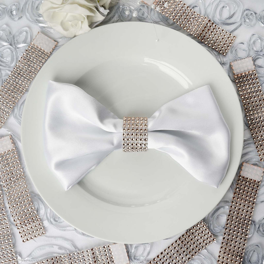 Wholesale Champagne Diamond Rhinestone Napkin Ring With
