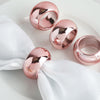 4 Pack Rose Gold/Blush Acrylic Napkin Rings