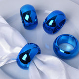 4 Pack Midnight Blue Acrylic Napkin Rings