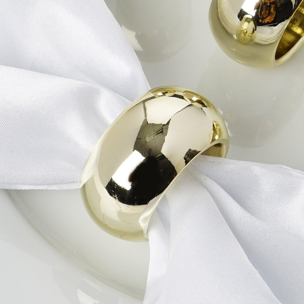 Pack Of 4 Gold Acrylic Napkin Rings Tableclothsfactory