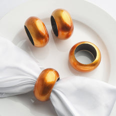 4 Pack Copper Acrylic Napkin Rings