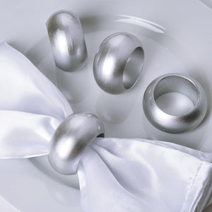 4 Pack Silver Acrylic Napkin Rings