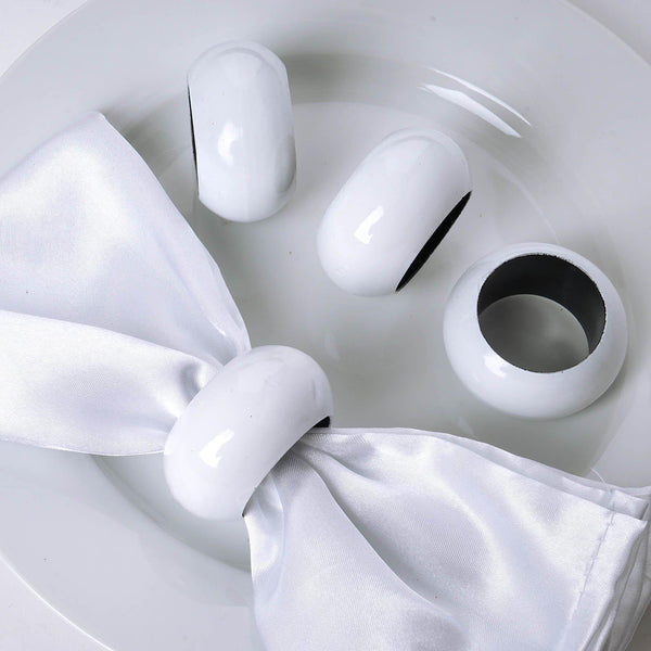 Pack of 4 | White Acrylic Napkin Rings