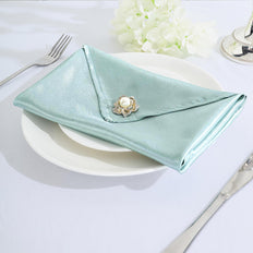 5 Pack | 20x 20 Dusty Sage Satin Linen Napkins