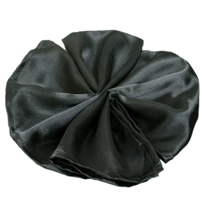 "20""x20"" Black Wholesale SATIN Linen Napkins For Wedding Birthday Party Tableware - 5 PCS"