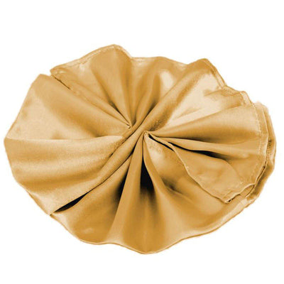 5 Pack 20x20inches Gold Satin Linen Napkins
