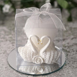 White Swan Heart Votive Candles
