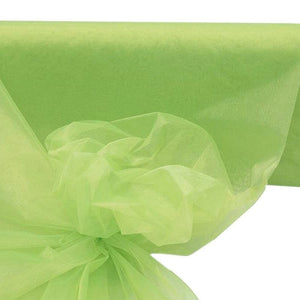 "TEA GREEN Crystal Sheer Organza Wedding Party Dress Fabric Bolt - 54"" x 40 Yards"