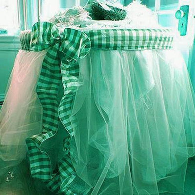 "54""x40 Yards Tea Green Sheer Organza Fabric Bolt"