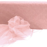 54 inch x40 Yards Blush | Rose Gold Sheer Organza Fabric Bolt