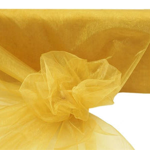 "GOLD Crystal Sheer Organza Wedding Party Dress Fabric Bolt - 54"" x 40 Yards"