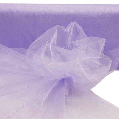"LAVENDER Crystal Sheer Organza Wedding Party Dress Fabric Bolt - 54"" x 40 Yards"