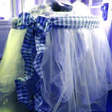 SERENITY BLUE Crystal Sheer Organza Wedding Party Dress Fabric Bolt - 54