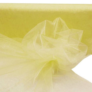 "YELLOW Crystal Sheer Organza Wedding Party Dress Fabric Bolt - 54"" x 40 Yards"