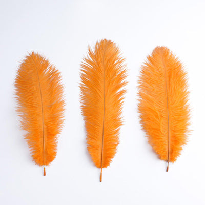 "13""-15"" Fabulous Natural Ostrich Feathers-12PCS - Orange"