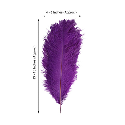 "12 Pack | 13""-15"" Purple Natural Ostrich Plumes Wholesale"