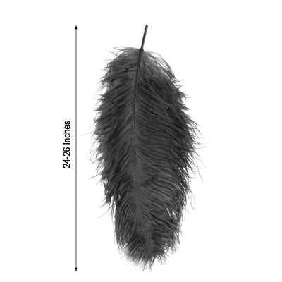 "Set of 12 | 24""-26"" Black Natural Plume Ostrich Feathers Centerpiece"