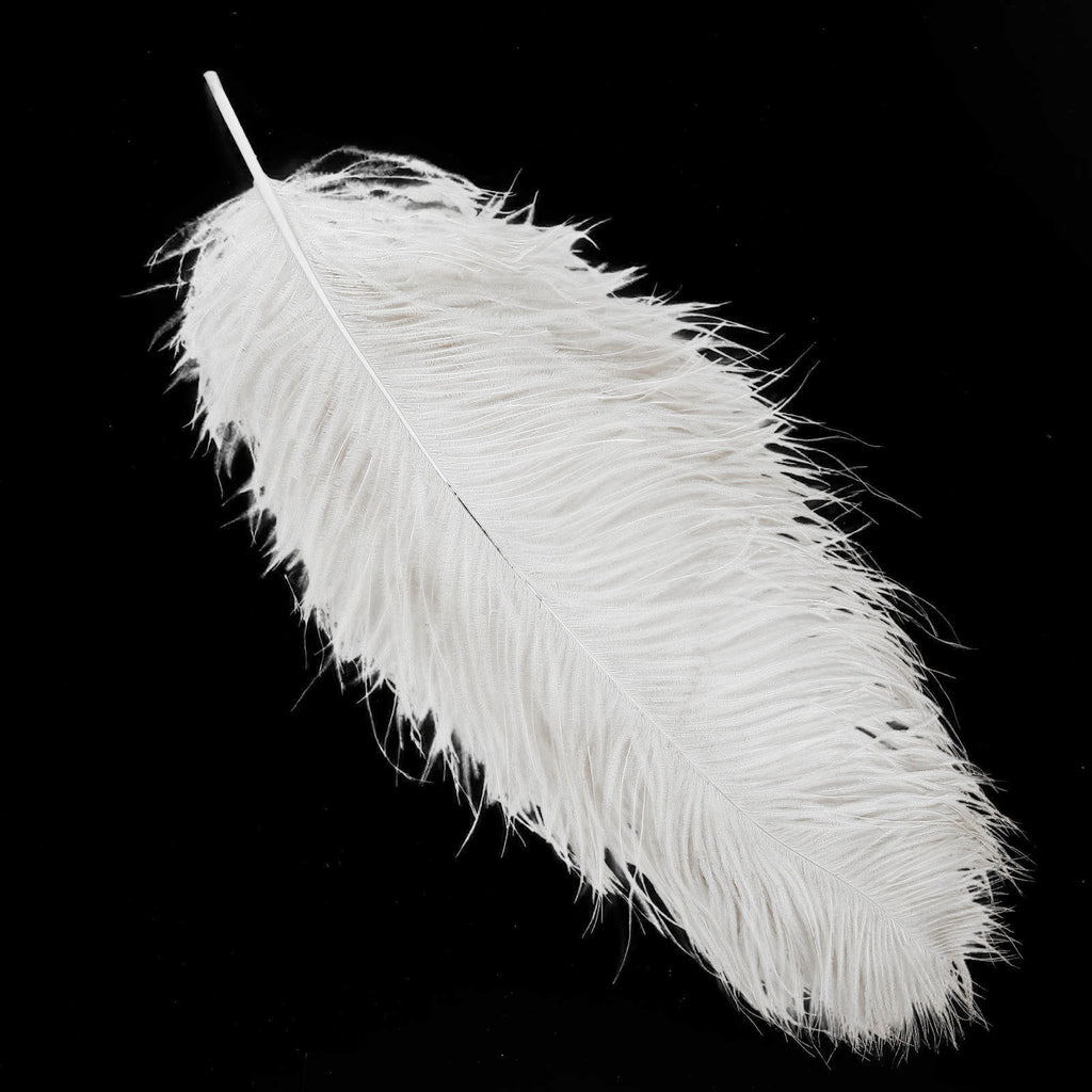 24 White Marabou Feathers Small Fluffy Trimits Plume Decoration Cards Craft