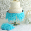 "39"" Turquoise Real Turkey Feather Fringe Trims With Satin Ribbon Tape"