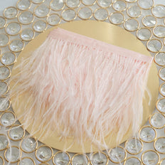 "39"" Real Ostrich Feather Fringe Trims With Satin Ribbon Tape 