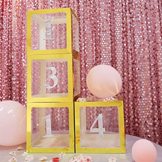 "4 Pack - 5"" Iridescent Number Stickers Banner, Customizable Stick on Numbers - 1"