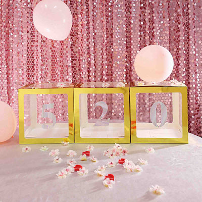 4 Pack Iridescent Pre-punched Decorative Numbers with Glue Dots