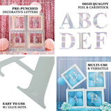 "4 Pack - 5"" Iridescent Alphabet Stickers Banner, Customizable Stick on Letters - S"