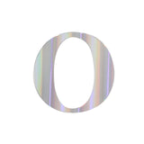 "4 Pack - 5"" Iridescent Alphabet Stickers Banner, Customizable Stick on Letters - O#whtbkgd#whtbkgd"