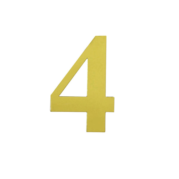 "4 Pack - 5"" Metallic Gold Number Stickers Banner/Garland Gold Numbers - 4"