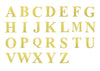 "4 Pack - 5"" Metallic Gold Alphabet Stickers Banner, Customizable Stick on Gold Letters - F"