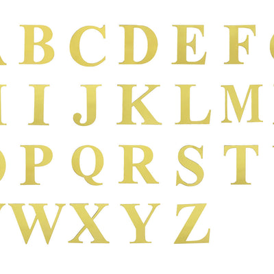 "4 Pack - 5"" Metallic Gold Alphabet Stickers Banner, Customizable Stick on Gold Letters - H"