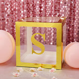 4 Pack | 5 Inch | Gold Pre-punched Decorative Letters with Glue Dots - S | tableclothsfactory