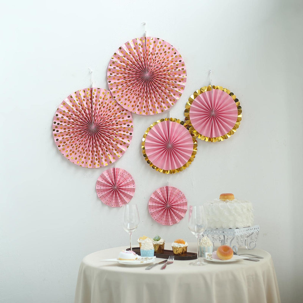 DIY Wedding Birthday Party Paper Fan Flowers Table Hanging Wall Decor 6A