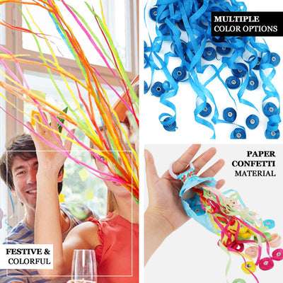 5 Pack - Blue Hand Throw Streamers, Paper Streamers Confetti Popper Party Favors