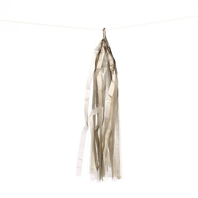 12 PCS Metallic Gold Paper Tassel Tissue Garland