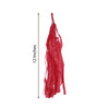 12 PCS Red Paper Tassel Tissue Garland