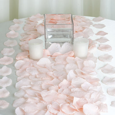 500 Blush | Rose Gold Silk Rose Petals For Table Confetti