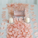 500 Dusty Rose Silk Rose Petals