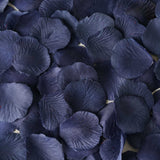 500 Navy Blue Silk Rose Petals For Table Confetti
