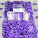 500 Purple Silk Rose Petals For Table Confetti