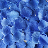 500 Royal Blue Silk Rose Petals For Table Confetti