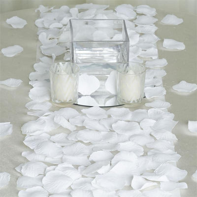 500 White Silk Artificial Roses Wholesale Petals For Table Confetti
