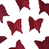 500 Pack | Burgundy | Silk Butterfly Confetti | Party Table Scatters
